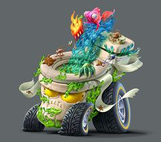Trash Wheels - They're Wheely gross! on Behance