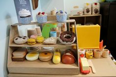 mini bakery...cute.....click on this link to see photos of a coffee shop made from cardboard....can anyone say double double?