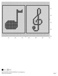 TISSUE OVER MUSIC NOTES (PART 2) Plastic Canvas Coasters, Plastic Canvas Tissue Boxes, Plastic Canvas Crafts, Plastic Canvas Patterns, Box Patterns, Beading Patterns, Canvas Designs, Canvas Ideas, Kleenex Box