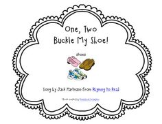 Build a Poem ~ One Two Buckle My Shoe ~ Pocket Chart