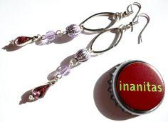 Lange Schönheiten in Lila & Silber - Ohrhänger von INANITAS auf DaWanda.com