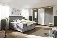 BOXSPRINGBETT 180 cm x 200 cm in Textil Hellgrau online kaufen ➤ XXXLutz Luxurious Bedrooms, Bench, Luxury, Storage, Furniture, House Ideas, Home Decor, Grey, Luxury Bedrooms