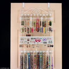 Over the door, wall jewelry organizer  organize organization organizing organization ideas being organized organization images wall jewelry organizer wall jewelry
