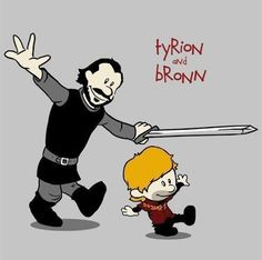 Game of Thrones (A Song Of Ice And Fire) and Calvin and Hobbes mashup