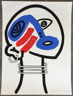 Keith Haring, The Story of Red and Blue (No. 17), Joseph Fine Art
