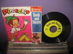 Vinyl for Children Pinocchio Book and Record 7 by JustCoolRecords, $14.00