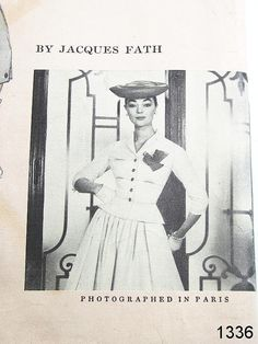 Vogue Paris Original 1336 by Jacques Fath