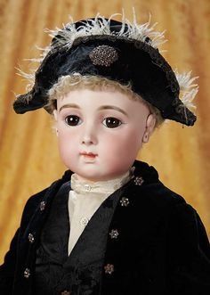 The Empress and the Child - Antique Dolls: 64 Bisque Bebe Triste by Emile Jumeau with Trousseau and Provenance
