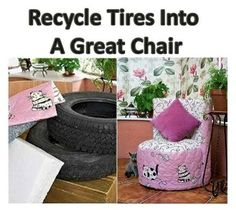 Recycle Tires Into a Great Chair