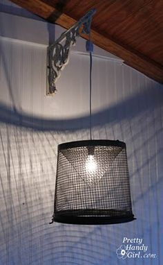 Make your own Minnow Trap Pendant Lights