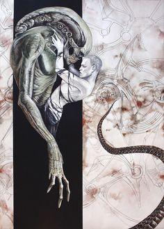 Alien by GrathVonGraven on DeviantArt Alien Vs Predator, Predator Movie, Saga Art, Giger Alien, Giger Art, Alien Concept Art, Aliens Movie, Alien Creatures, Alien Art