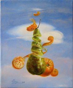 Daniel Cristian Chiriac Artwork Fruits from heaven, 2011 Oil Painting, Surrealism