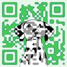 Dog QR Code Dalmatian by Erica Vojnich