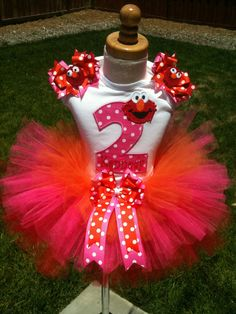 """Love this top but on a pillowcase dress with red/white polka ribbons and trim...name below """"2"""""""