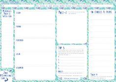 semainier-vert cerise : existe en 7 couleurs ! C'est le moment de s'organiser ! …