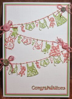 Tattered Lace Dies: Baby Washing Line by Brenda