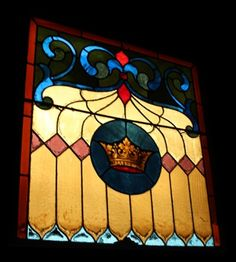 Stained Glass Square Panel – Crown at Provenance in Philadelphia
