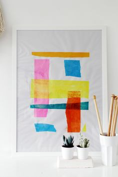DIY Tissue Paper Art
