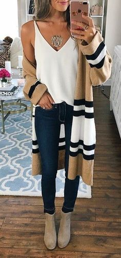 e1b71d2a449  fall  outfits women s white tank top and blue jeans Fall Outfit Ideas