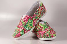 Custom Lilly Pulitzer TOMS!!!!!!!!!  http://paisleyproper.weebly.com/toms-shoes.html