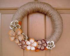 Felt and Burlap Fall Wreath
