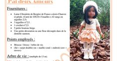 J& deux amours. Doll Patterns, Crochet Patterns, Knitted Dolls, Doll Clothes, Projects To Try, Dresses, Hearts, Disney, Baby Dolls