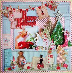Happy Holidays Tilda by:Cyao #スクラップブッキング