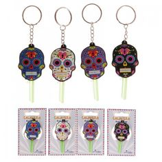 Day of the Dead Funky PVC Key Cover Key Chain