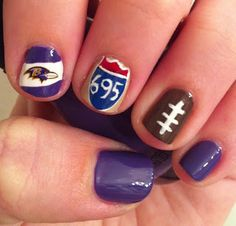 Miscellaneous Manicures: Baltimore Ravens Nails - Week 14 - Beltway Nails