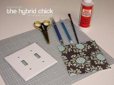 mod podge switch-plate cover