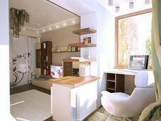 Мини кабинет расположился на лоджии (от солнца предусмотрены автоматические  ставни на окнах) · Home Interior DesignInterior ...