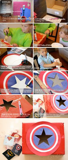 Valentines Day Card Box | Captain America | DIY by Ashlee Proffitt
