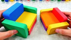 DIY How to make Mad Mattr Rainbow Couch Learn Colors for Kids Kinetic Sand, Learning Colors, Coloring For Kids, Mad, Rainbow, Couch, Youtube, Rain Bow, Rainbows