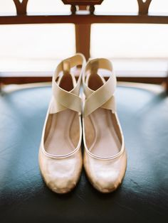 Gold ballet slippers: http://www.stylemepretty.com/2016/02/22/ballerina-chic-from-top-knot-to-toes/