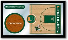 Miami Hurricanes Basketball Team Sports Mirror at SportsFansPlus.com. Visit website for details!