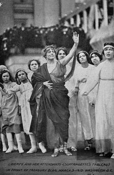 Thousands of women marched amid hostile and violent crowds to agitate for equal rights. ... 1913 The Woman Suffrage Procession Crashing the inauguration to demand the vote