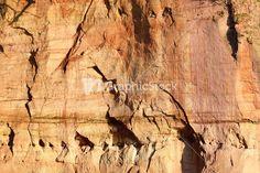 Sandstone Cliffs In Gauja National Park Stock Image