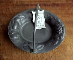 Vintage French pewter basket with fruit decoration by MaisonMaudie