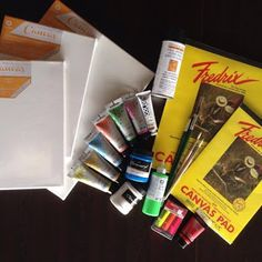 Before the 30-day Art Challenge, I prepped by stocking up on art supplies!  This is <3!!!