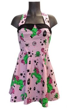 ce955ca9487e Hell Bunny Collection · Pink Unicorn Eyeballs Dress – Famous Rock Shop Rockabilly  Pin Up, Rockabilly Fashion, 50s