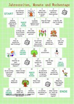 Brettspiele - Jahreszeiten, Monate und Wochentage