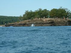 """The famous """"cliffs"""" at Greers Ferry Lake; where kids plunge into the refreshing,  good ole southern lake water!"""