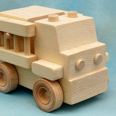 Wood Toy Firetruck  All Natural Wooden Toy  Fun by nwtoycrafters