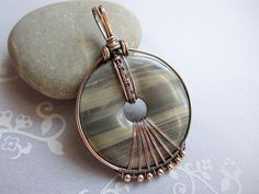 Silver Leaf Jasper Donut Stone Wire Wrapped by MyWiredHeart
