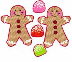 Gingerbreads and Gumdrops - Iron On Fabric Appliques - Christmas on Etsy, $5.00