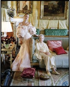 Kate Moss & Lady Elizabeth Longman  - Houghton Hall, Norfolf - 2012 - Love Magazine -Tim Walker Photography
