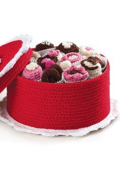 Crochet Box of Chocolates | FREE Crochet Pattern from @joannstores | Valentine's Day Gift Ideas
