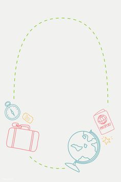 Travel Backpack For Kids - - Turkey Travel Map - - - Travel Friends Girls New Background Images, Background Templates, Travel Doodles, Globe Vector, Doodle Icon, Creative Instagram Stories, Bullet Journal Art, Travel Drawing, Note Paper