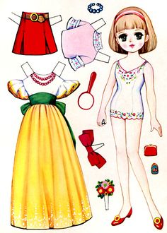 vintage japanese paper dolls - Google Search for 1500 free paper dolls, go to my website Arielle Gabriel's The International Paper Doll Society...