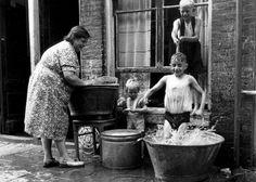 Wasdag in de de Jordaan 1951 Amsterdam